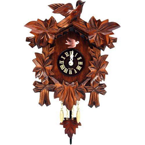 Black Forest Bird and Leaf Cuckoo Clock