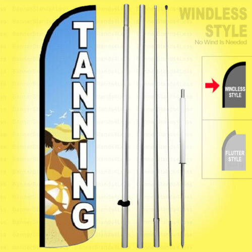 Windless Swooper Flag Kit 15/' Feather Banner Sign bz-h TANNING
