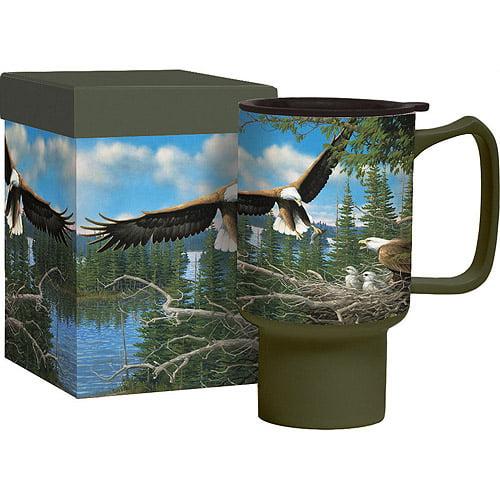 Spring Bald Eagles Travel Mug