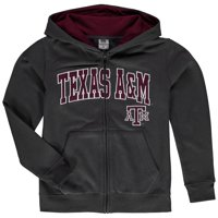 Texas A&M Aggies Youth Applique Arch & Logo Full-Zip Hoodie - Charcoal