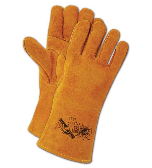 Magid WeldPro Shoulder Split Cow Leather Gloves Large, 12 Pairs