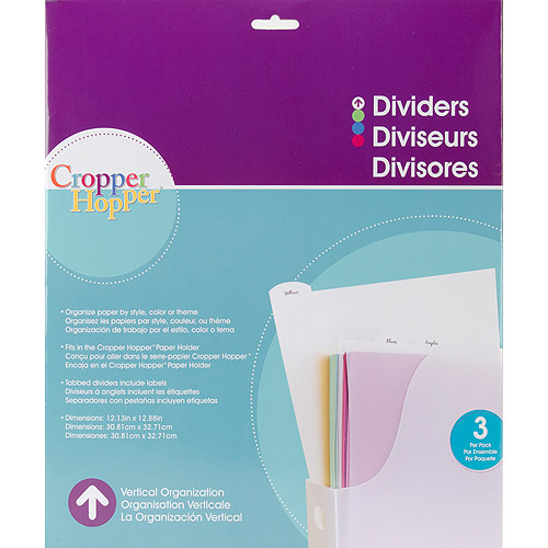 "Cropper Hopper Tabbed Dividers W/Labels 3pk-12.25"" x 12.875"""