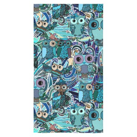 MKHERT Hand Drawn Floral Pattern With Owls Bath Towel Shower Towel Wash Cloth Face Towels 16x28 inches ()