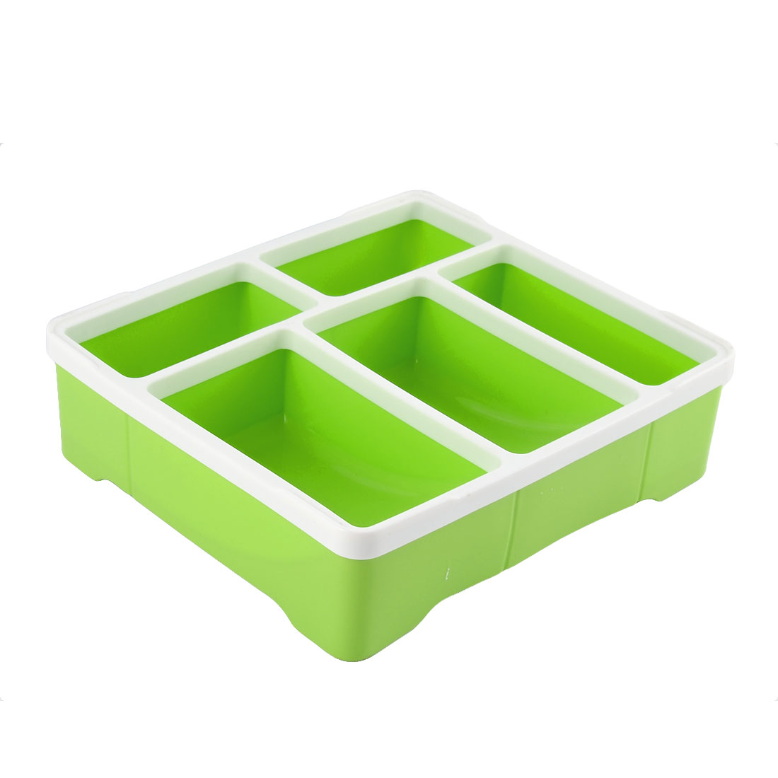 Household Square Sundries Key Plastic Storage Box Case Container Holder Green