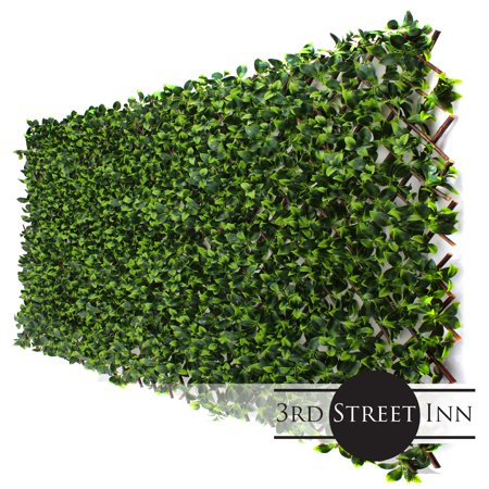 Gardenia Leaf Trellis 4-Pack - Bamboo Greenery Panel - Artificial Hedge - Outdoor Artificial Plant - Great Boxwood and Ivy Fence Substitute - DIY Flexible