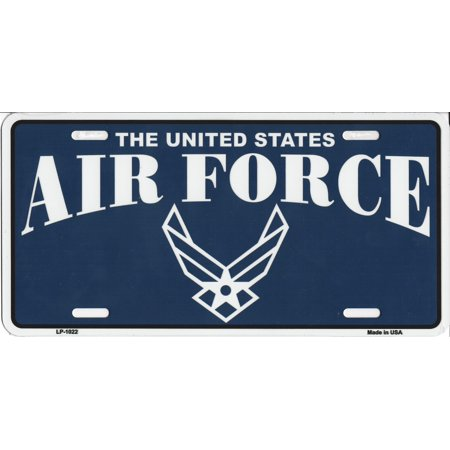 The united states air force license plate for Air force decoration writing