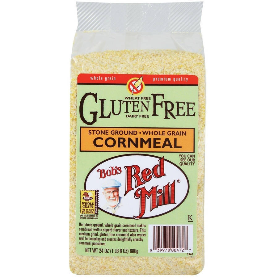Bob's Red Mill Gluten Free Stone Ground Whole Grain Cornmeal, 24 oz (Pack of 4)