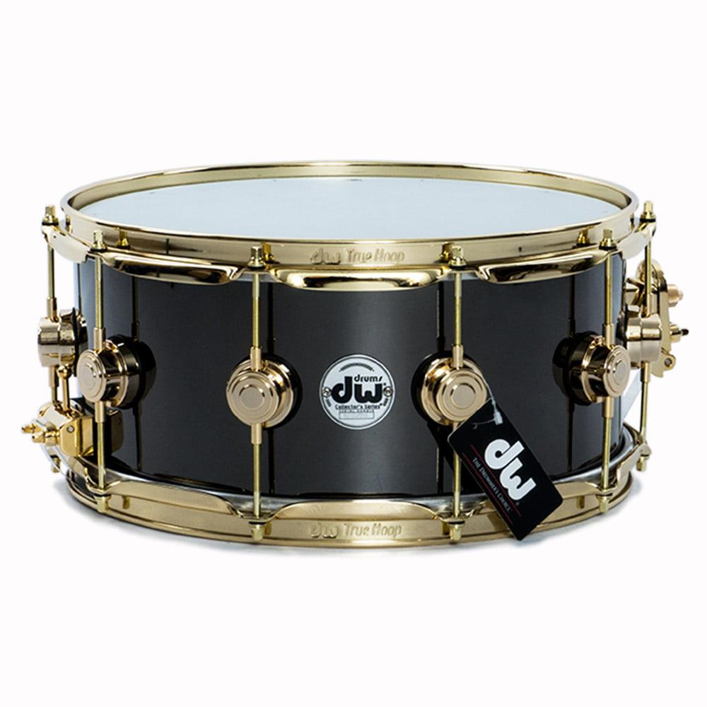 Drum Workshop 14x6.5 Black Nickel Over Brass Snare Drum w  Gold Hardware by Drum Workshop
