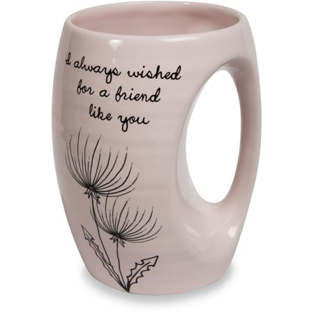 Pavilion - I Always Wished for a Friend Like You Pink Ceramic Hand Warmer - Tabletops Unlimited Ceramic Mug