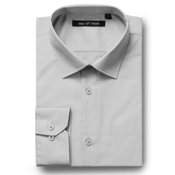 Men's Big & Tall Classic-Fit Spread Collar Solid Long Sleeve Dress Shirt