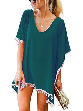 41af309936 Product Image SAYFUT Juniors  Bathing Suit Cover up Beach Bikini Wrap Swimsuit  Swimwear Dress Trim Kaftan Loose