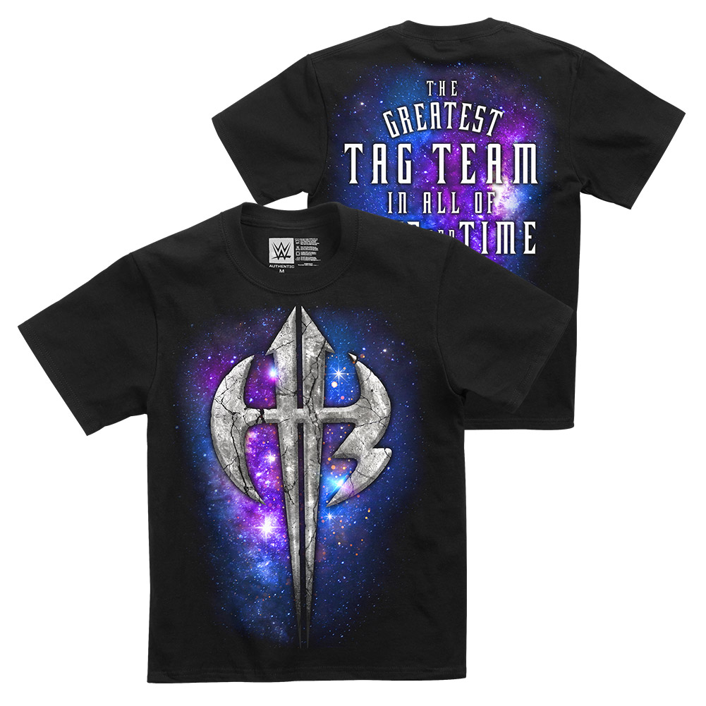 """Official WWE Authentic The Hardy Boyz """"Space & Time"""" Youth T-Shirt Black Small by"""