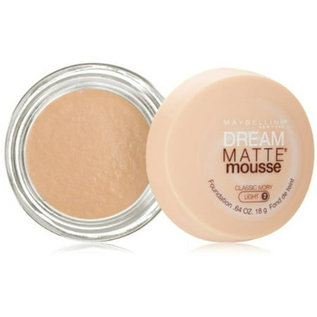 Maybelline Dream Matte Mousse Foundation, Classic Ivory, Light [2], 0.64