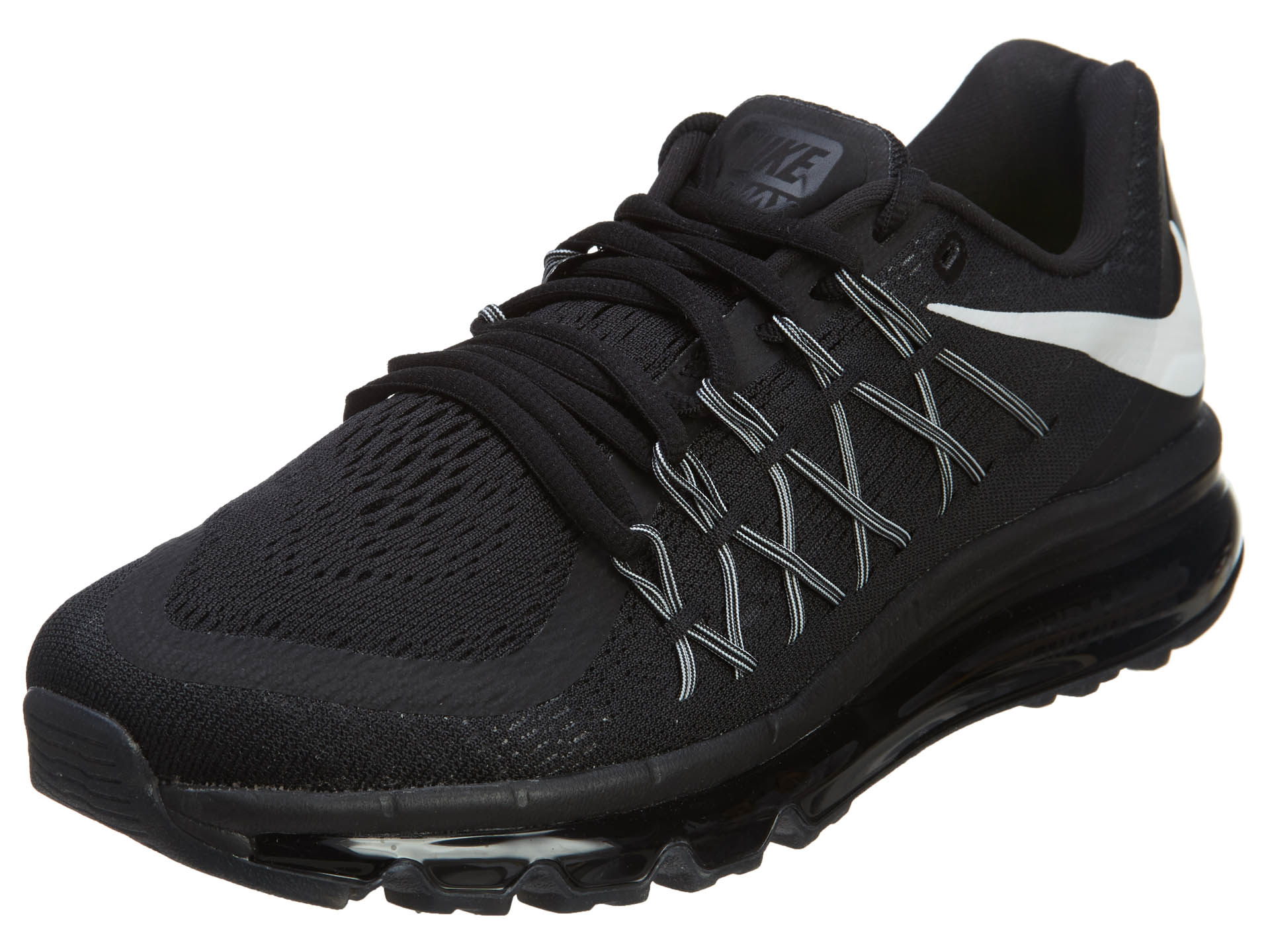 Nike Nike Air Max 2015 Mens Running Shoes BlackWhite 698902 001