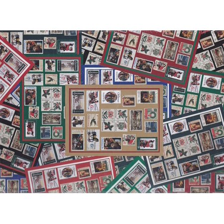 """""""Holiday Traditions"""" 500 Piece Puzzle ~ Designed for the United States Postal Service ~ Holiday Stamps 1997, Holiday Traditions ~ Layers of a Holiday Stamp.., By Ensemble"""