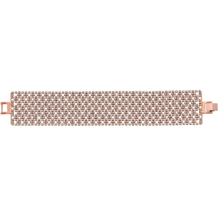 (X & O Handset Austrian Crystal 14kt Rose Gold-Plated 31mm Argyle Pattern Bracelet)