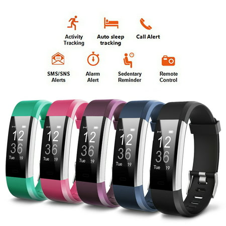 ID115 Plus Smart Watch bluetooth Wristband Smart Bracelet - Your Best Fitness Tracker - Touch Screen Sleep Monitor Passometer Band Alarm Clock Calories (Best Home Alarm Monitoring Service)
