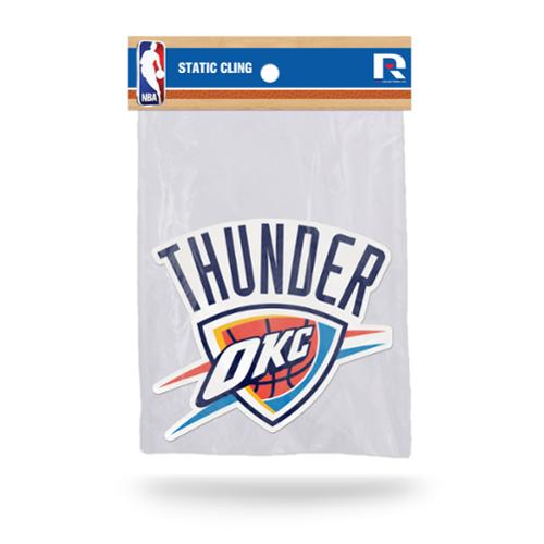Oklahoma City Thunder Official NBA 5 inch  Car Window Cling Decal by Rico