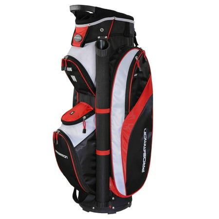 Prosimmon Tour 14 Way Cart Golf Bag Black/Red - Golf Girls Golf Bag