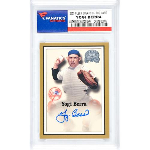Yogi Berra New York Yankees Autographed 2000 Fleer Greats of the Game Insert Card - Sports - Steiner Sports Certified