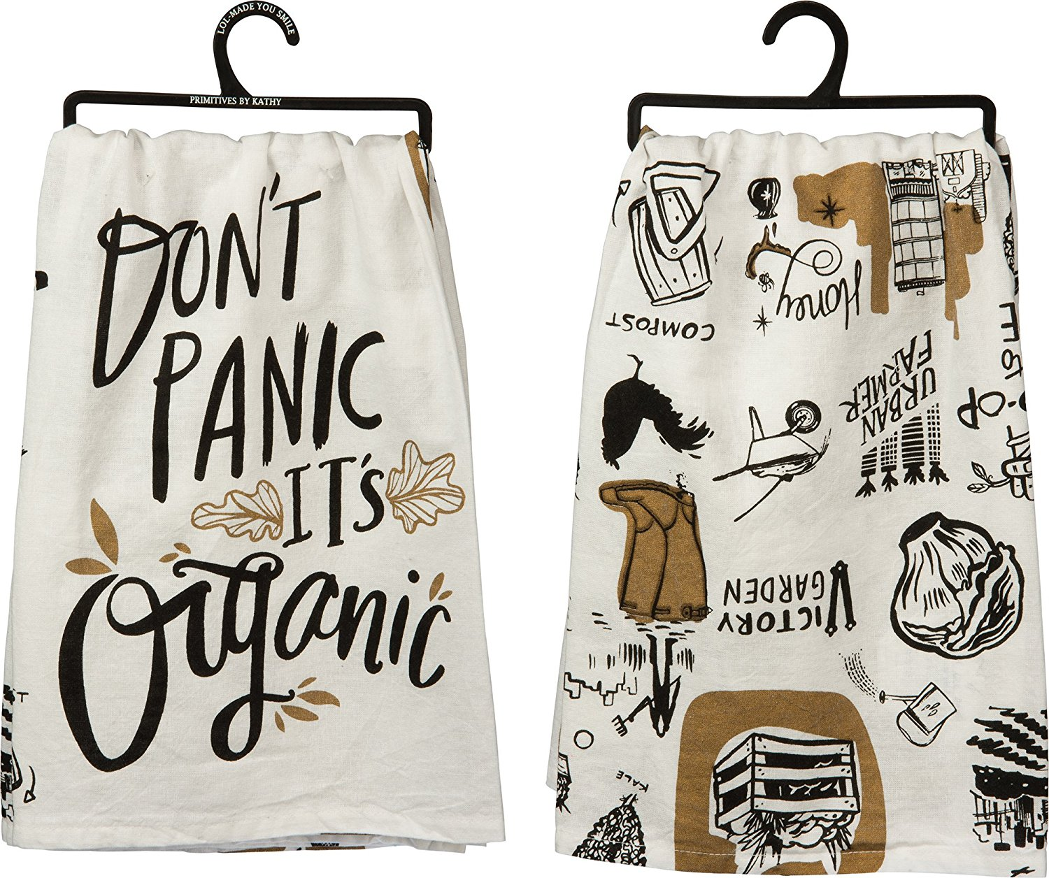 Donu0027t Panic Itu0027s Organic   Cotton Kitchen Towel   28 In, Vintage