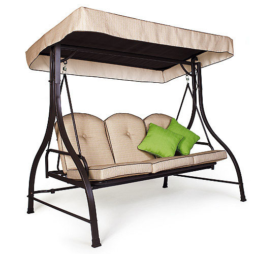 Garden Winds Replacement Canopy Top For Living Accents 3 Person Swing    Walmart.com
