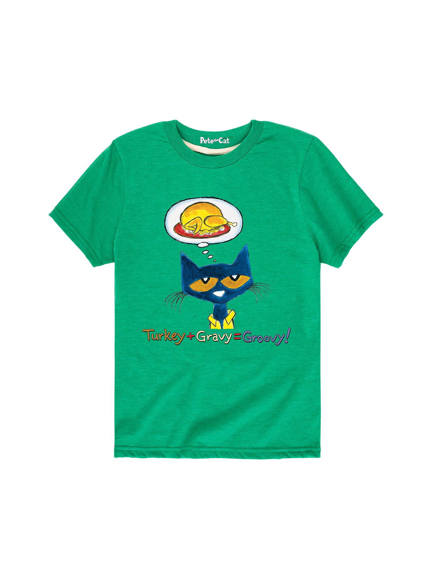 Pete The Cat Turkey + Gravy = Groovy! - Toddler Short Sleeve Tee