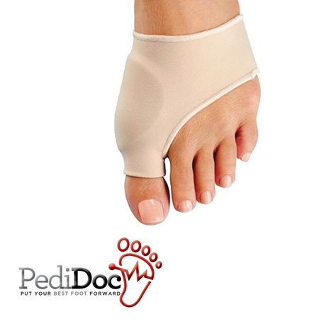 PediDoc Bunion Corrector And Relief Sleeve With Gel Bunion Pads Cushion Bunion Protector, Medium (1 Pair)