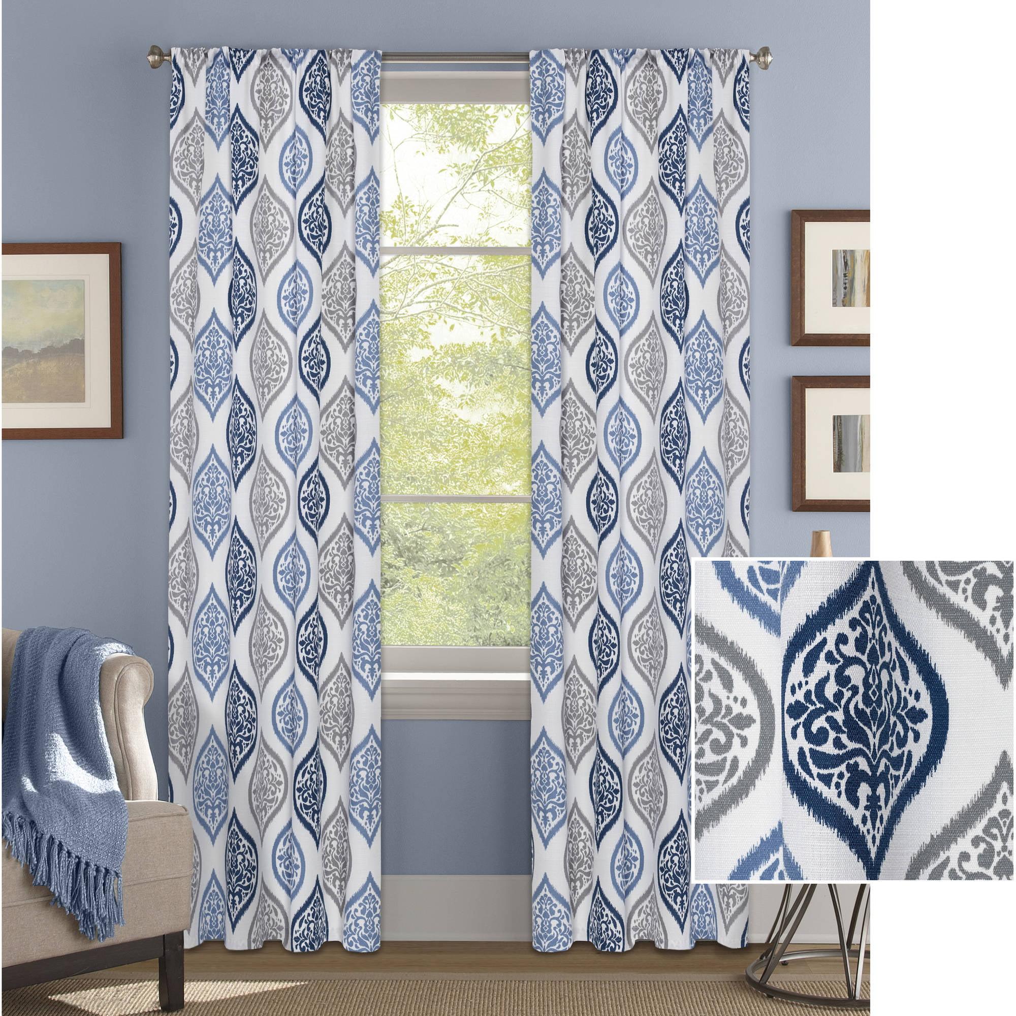 Better Homes & Gardens Damask Ogee Curtain Panel