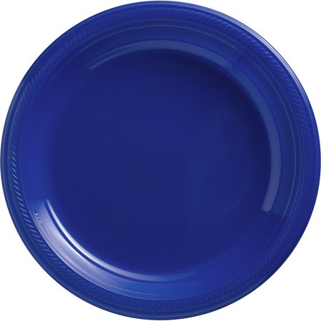 Amscan Reusable Round Plates (Pack of 50), Bright Royal Blue, 10 1/4](Amscan Halloween Plates)