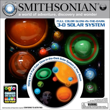 Smithsonian 3 D Hanging And Glowing Solar System