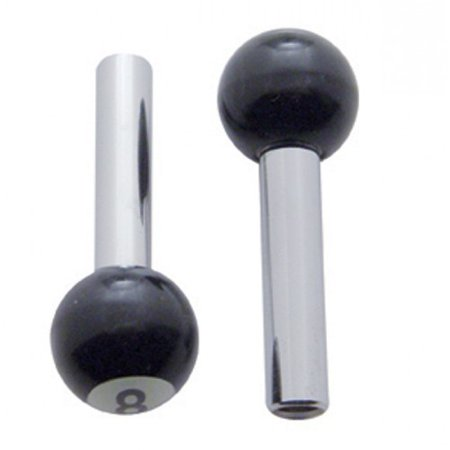 (2) Classic Vintage Car Pickup Truck Black 8 Ball Door Locks Knobs (Pickup Ignition Door Locks)