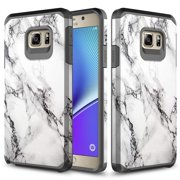 Galaxy Note 5 Case, Slim Fit Dual Layer Shockproof Hybrid Case for Samsung Galaxy Note 5 - Marble