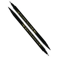 2 black dual tip brush pens for calligraphy
