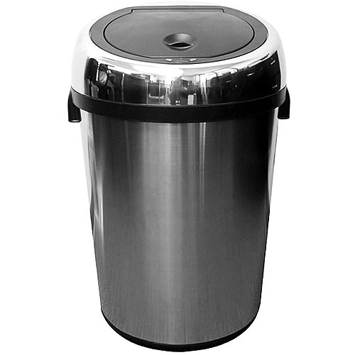 itouchless touchless 18gallon trash can stainless steel