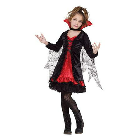 Girls Lace Vampiress Halloween Costume](Halloween Costume Ideas Black Lace Dress)