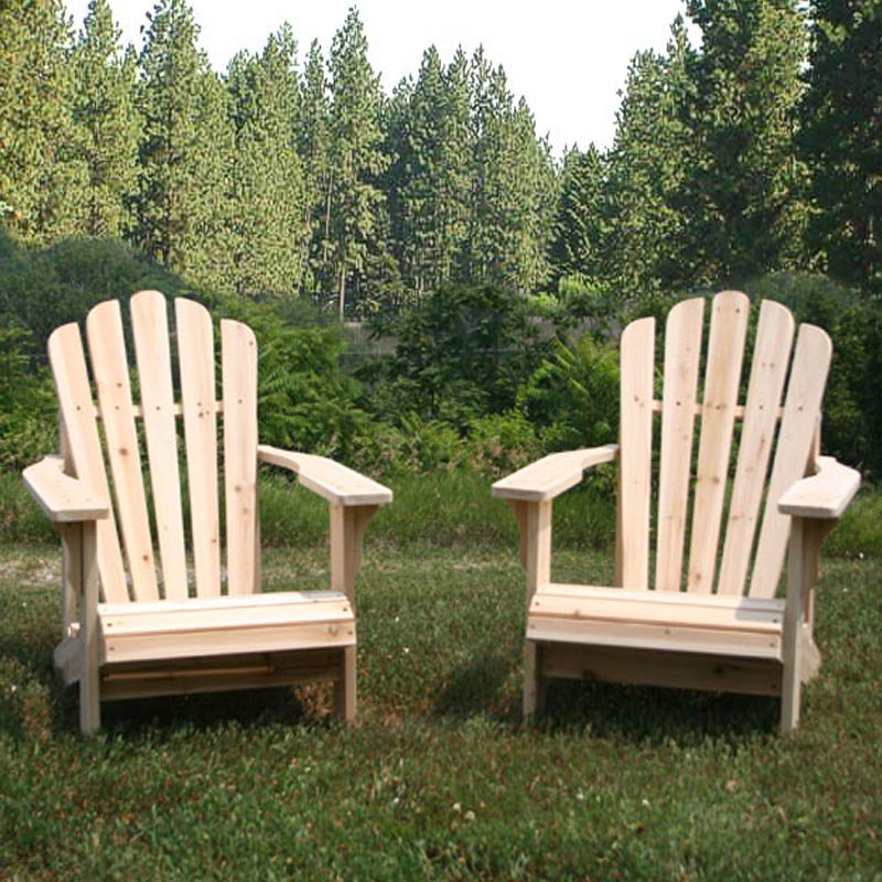 Shine Company Cedar Adirondack Chair Pair with Side Table 3 pc. Set by Shine Company Inc