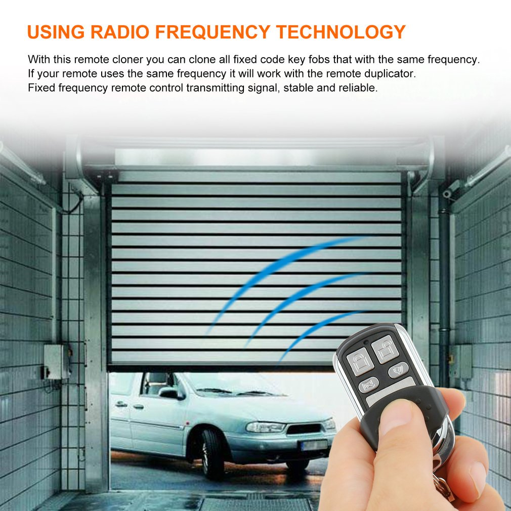 Wireless 3 Buttons RF Remote Control Car Key 433 92 MHz Electric