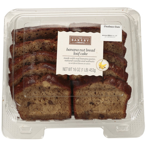 The Bakery At Walmart Banana Nut Bread Loaf Cake, 16 oz