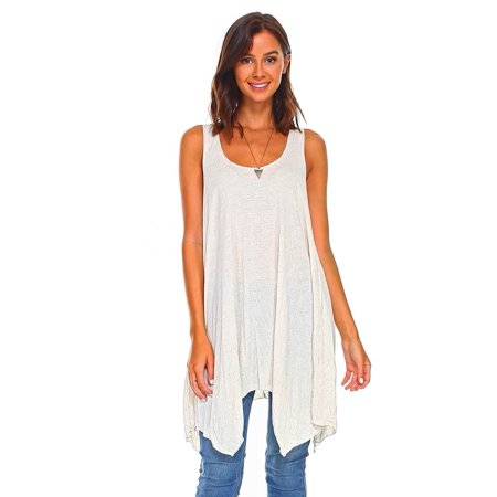 f713c63737b Simplicitie - Simplicitie Women's Sleeveless Swing Flare Tunic Dress Tank  Top - Regular and Plus Size - Made in USA - Walmart.com