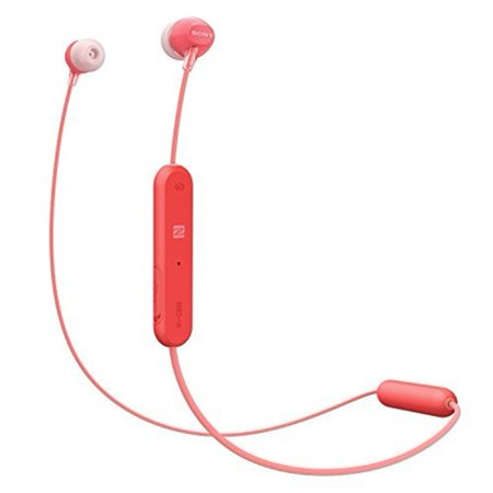Sony WI-C300 - Earphones with mic - in-ear - Bluetooth - wireless - NFC - red