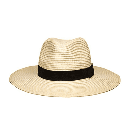 - Women's Wide Brim Fedora Hat Spring Summer 126SH