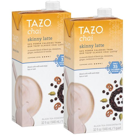 - (2 Count) Tazo Skinny Chai latte Concentrate Black Tea, 32 OZ