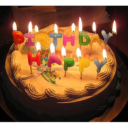 Decor Hut Happy Birthday Candles, Cake Toppers, Toothpicks for Easy Inserting, Glitter & Polka Dots (Polka Dots)