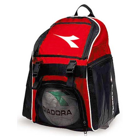 Diadora Uni Medium Team Backpack Soccer Bag Red Black Os