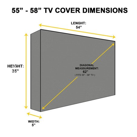 Outdoor Tv Cover Water And Dust Resistant Tv Cover Hight