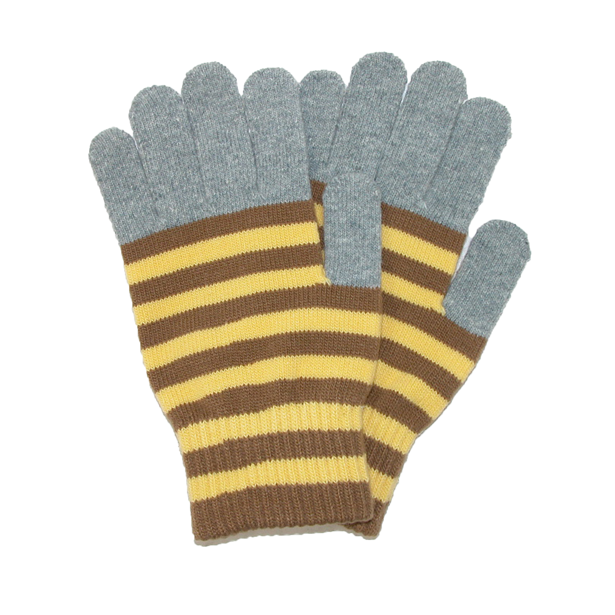 CTM®  Women's Striped Stretch Texting Gloves