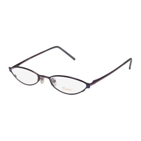 New Thalia Lolita Womens/Ladies Cat Eye Full-Rim Navy / Eggplant High-end School Teacher Look Frame Demo Lenses 51-19-135 Flexible Hinges (New Look Eyeglasses)