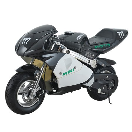 Se7en Advanced Champion Gas Powered 40CC 4-Stroke Mini Rocket Motorcycle Ride-on (Black)