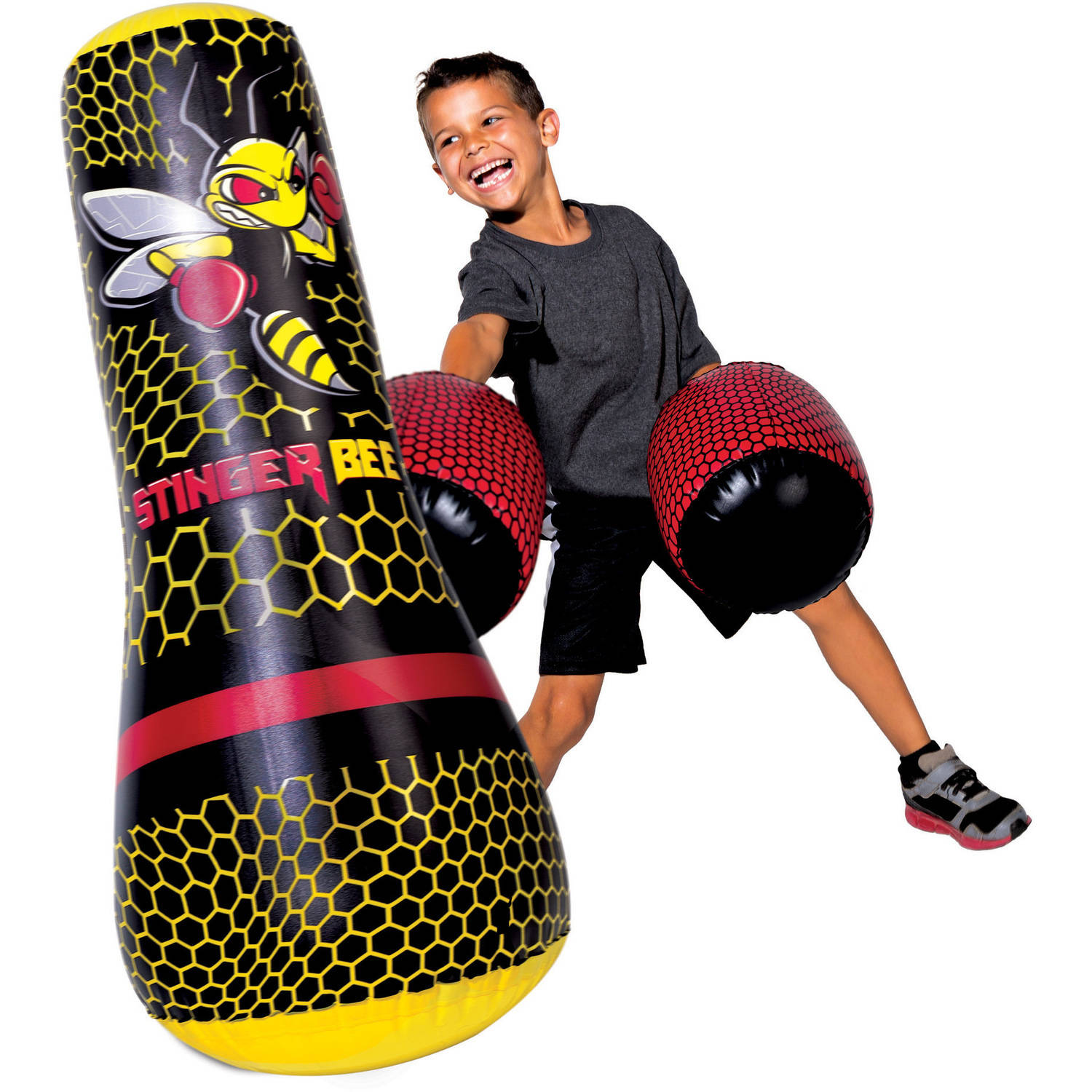 Franklin Sports Stinger Bee Punching Bag and Gloves